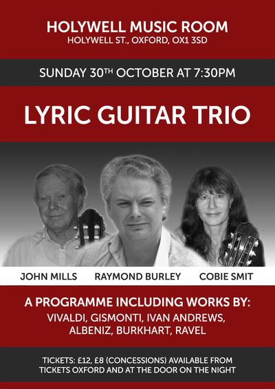 Lyric Guitar Trio Raymond Burley John Mills and Cobie Smit