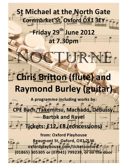 Raymond Burley and Chris Britton flute
