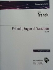 cover of Franck - Prélude, Fugue and Variation op.18