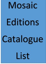 cover of Mosaic Editions Catalogue List
