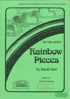 cover of David Gow: Rainbow Pieces for solo guitar
