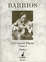cover of Barrios: 18 Concert Pieces VOL 2