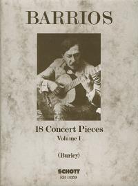 cover of Barrios: 18 Concert Pieces VOL 1