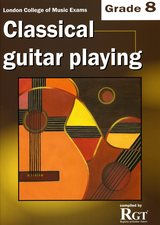 cover of Classical Guitar Playing Grade 8