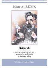 cover of Albéniz: Orientale op.232, no.2