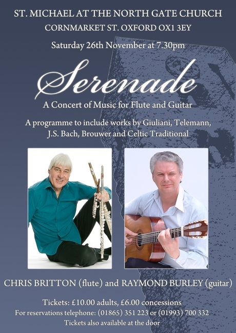 Serenade Concert 26th Nov Flyer