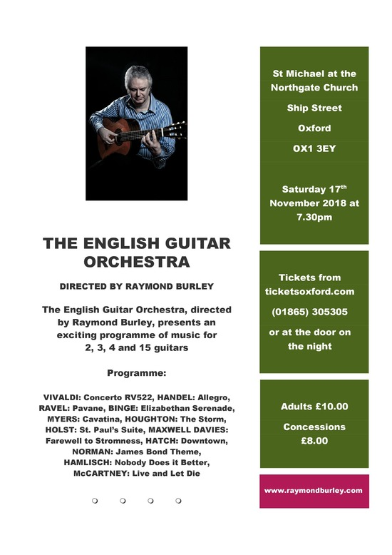 English Guitar Orchestra Concert 17th Nov 2018